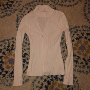 Free People white mock neck top